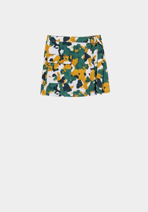 Calção/saia camuflado para mulher da Tiffosi