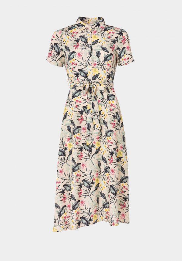 Vestido comprido c/ print floral para mulher da Tiffosi