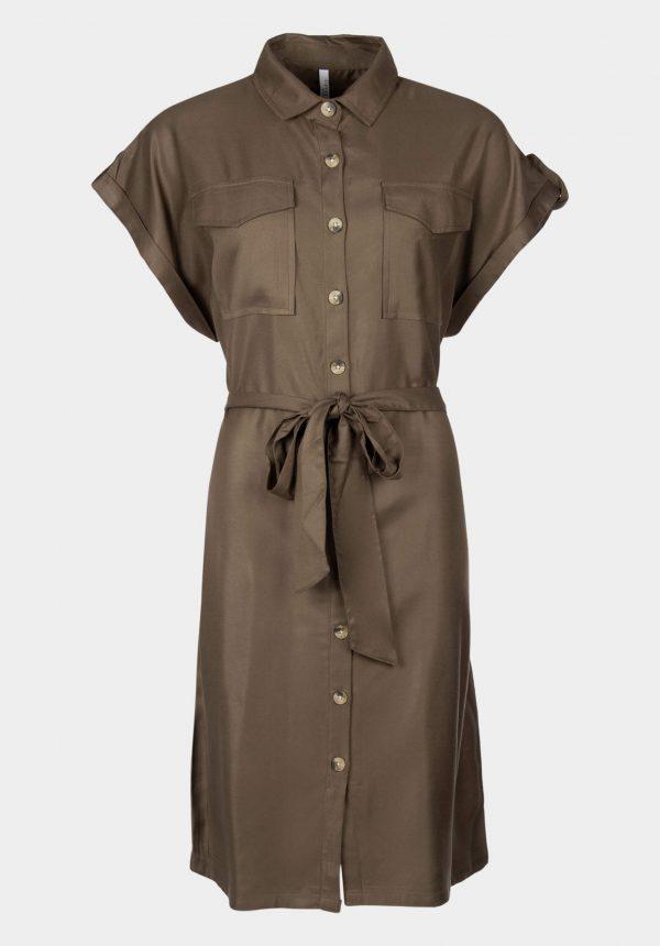 Vestido c/ bolsos e cinto pata mulher da Tiffosi