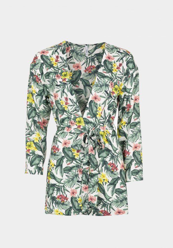 Kimono c/ print floral para mulher da Tiffosi