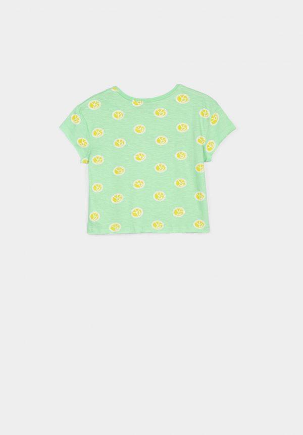 T-shirt cropped estampada para menina da Tiffosi