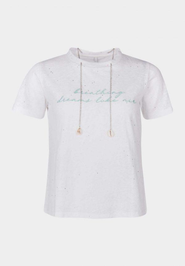 T-shirt branca c/ corrente para mulher da Tiffosi