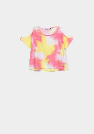 T-shirt manchada para menina da Tiffosi