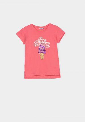 T-shirt ice cream para menina da Tiffosi