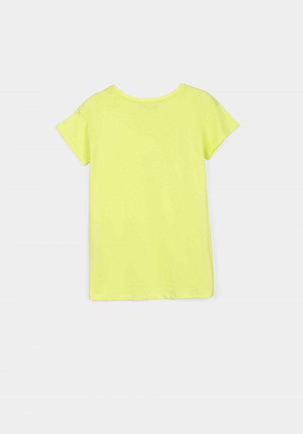 T-shirt verde lima c/ estampa para menina da Tiffosi