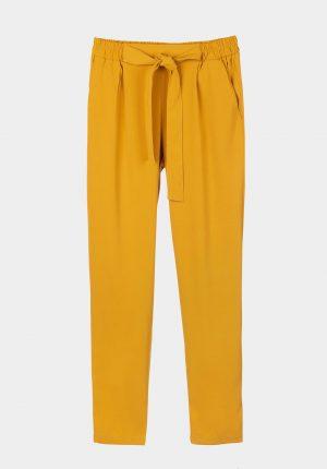 Calça amarela c/elástico e laço para mulher da Tiffosi