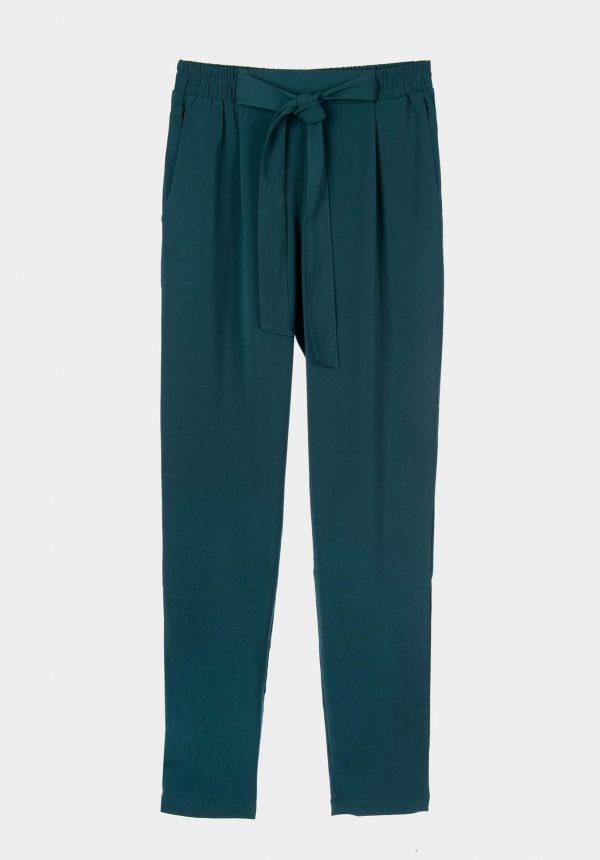 Calça verde c/elástico e laço para mulher da Tiffosi