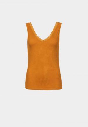Tope amarelo c/ renda para mulher da Tiffosi