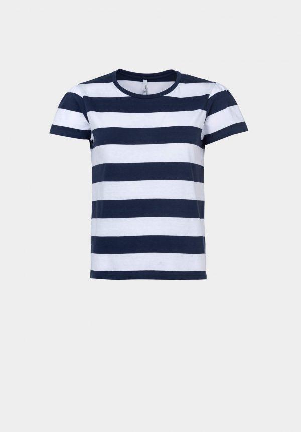 T-shirt de riscas para mulher da Tiffosi