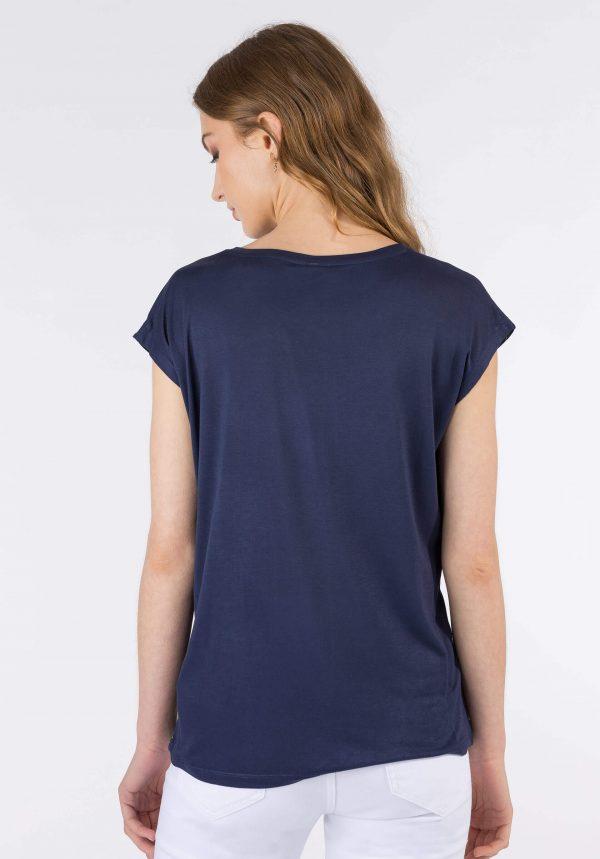 T-shirt azul c/ estampa na frente para mulher da Tiffosi