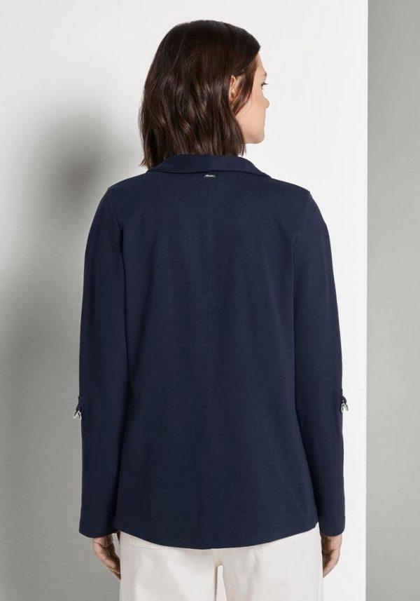 Casaco de malha azul manga 3/4 para mulher da Tom Tailor