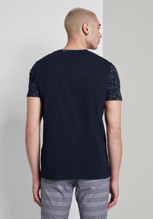T-shirt azul com cabeção para homem da Tom Tailor
