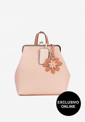 Mochila rosa c/ textura para mulher da Vilanova