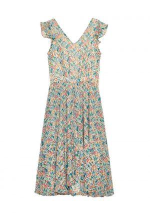 Vestido midi print floral para mulher da Md `m