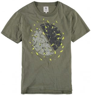 T-shirt verde com estampa circular para homem da Garcia Jeans