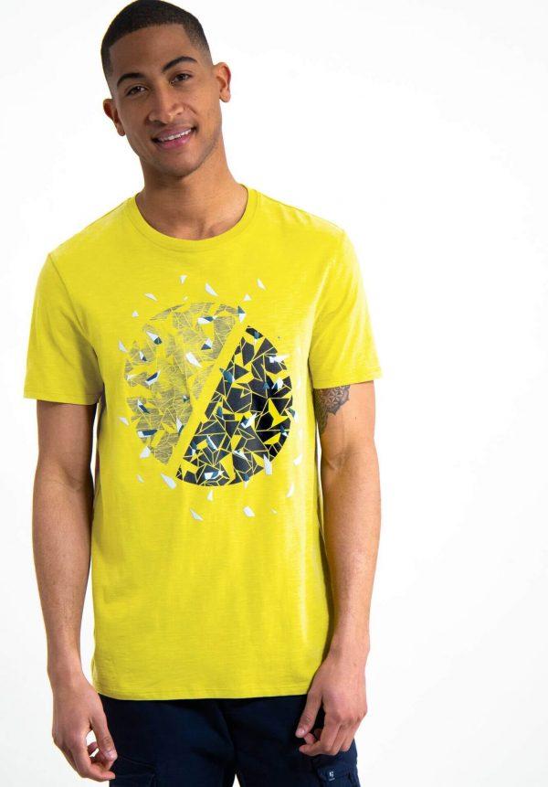 T-shirt c/ estampa verde lima para homem da Garcia Jeans