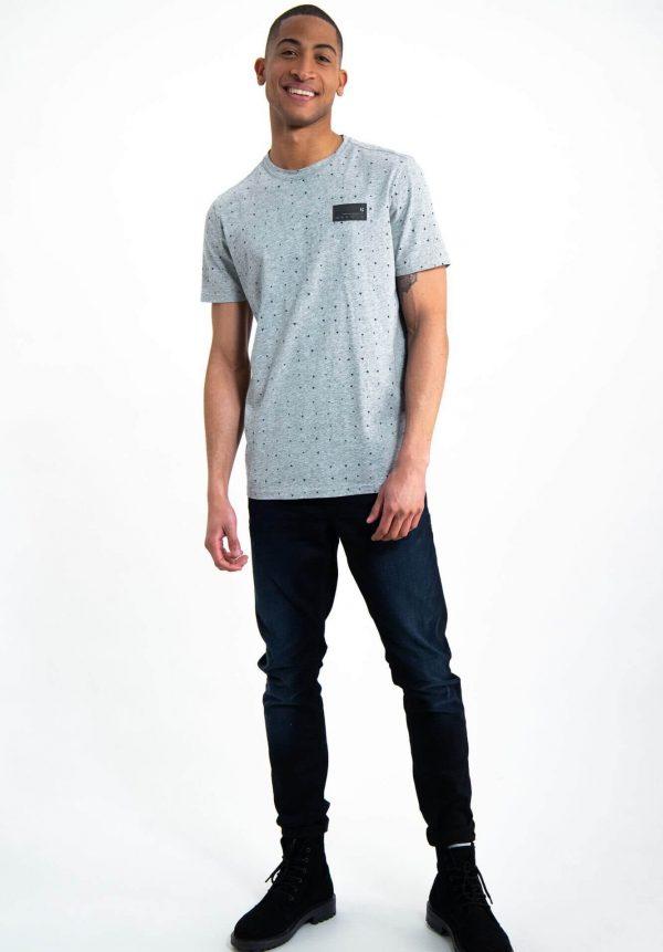 T-shirt cinza c/ print para homem da Garcia Jeans