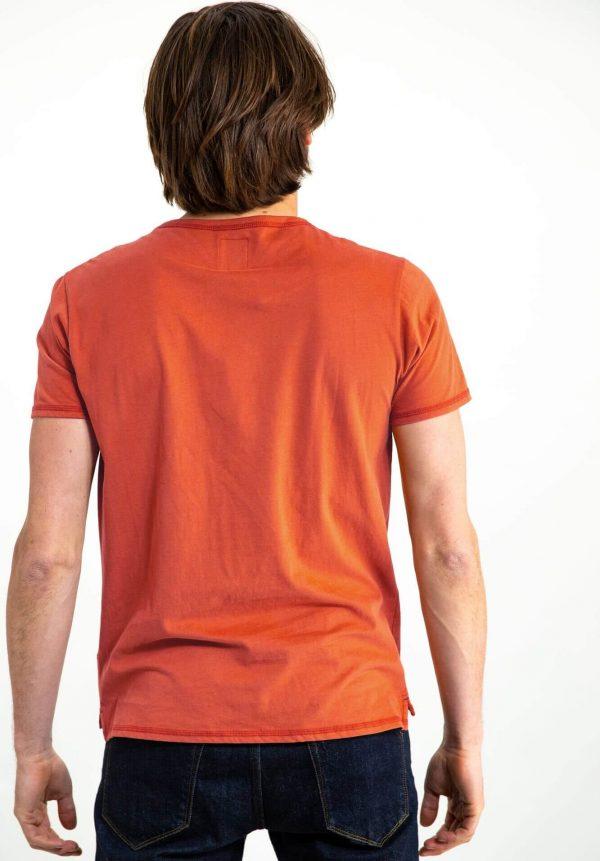 T-shirt laranja com estampa para homem da Garcia Jeans