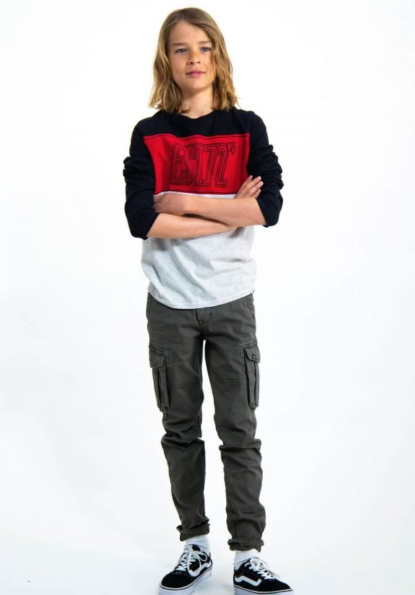Sweat combinada 3 cores para menino da Garcia Jeans