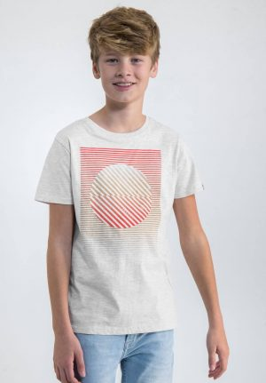T-shirt cinza c/ estampa 3D para menino da Garcia Jeans