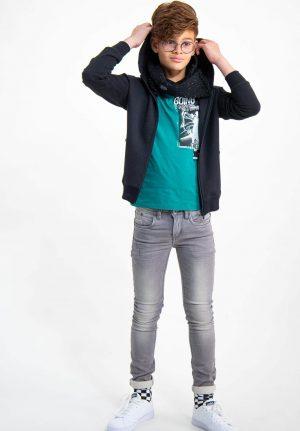 Casaco preto c/ capuz para menino da Garcia Jeans