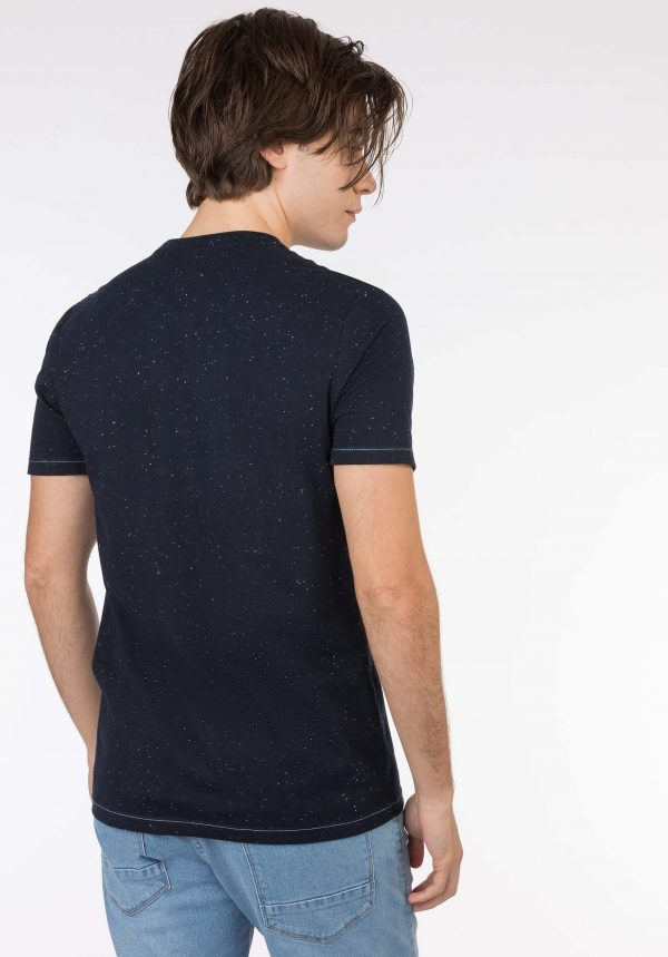 T-shirt azul marino c/ estampa para homem da Tiffosi