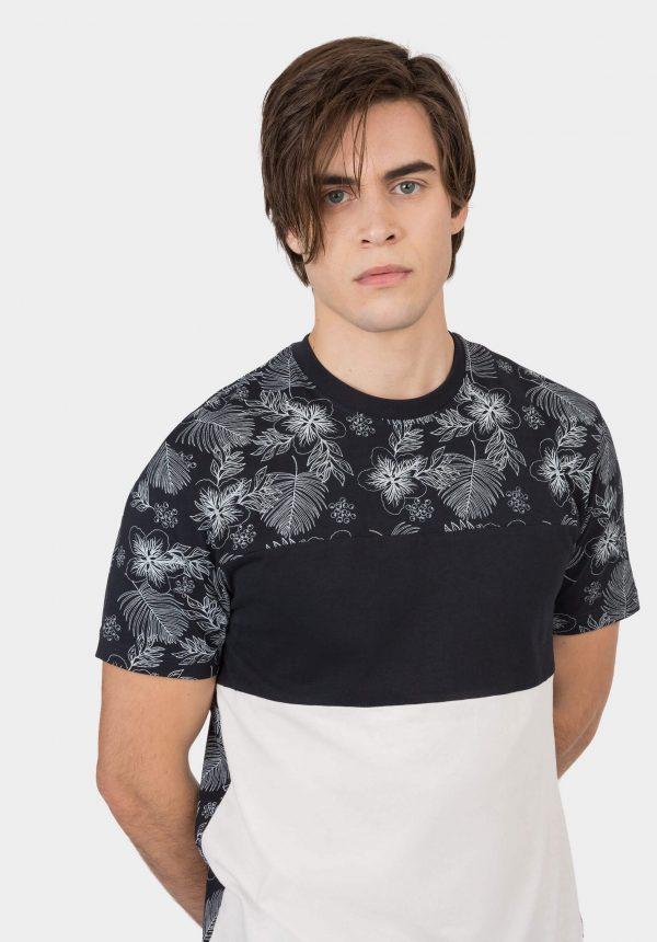 T-shirt c/ print floral para homem da Tiffosi