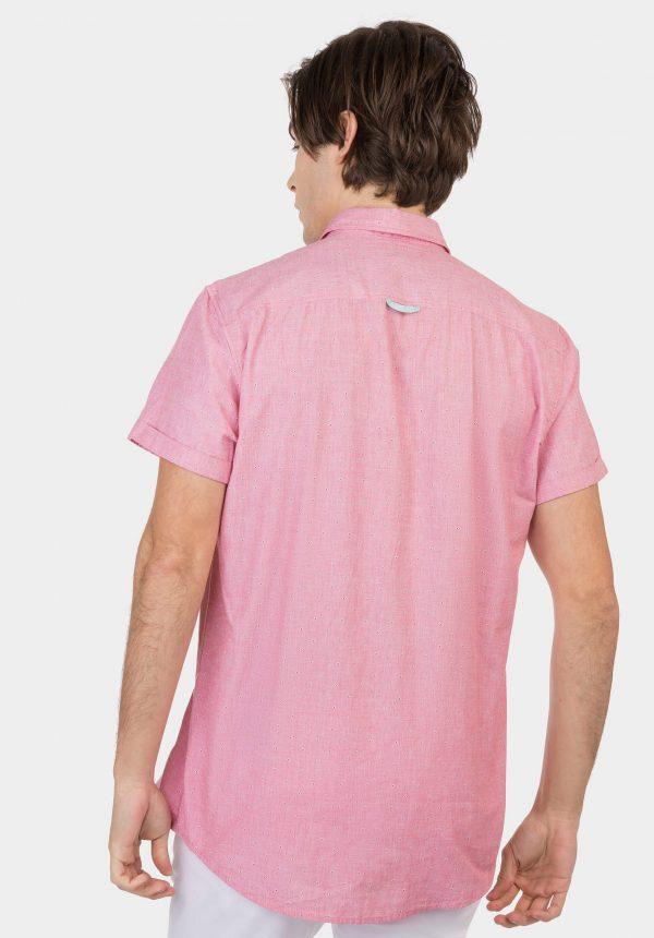 Camisa vermelha c/ manga curta para homem da Tiffosi