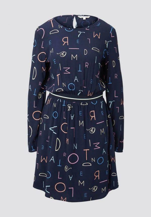 Vestido marino c/ print letras para mulher de Tom Tailor