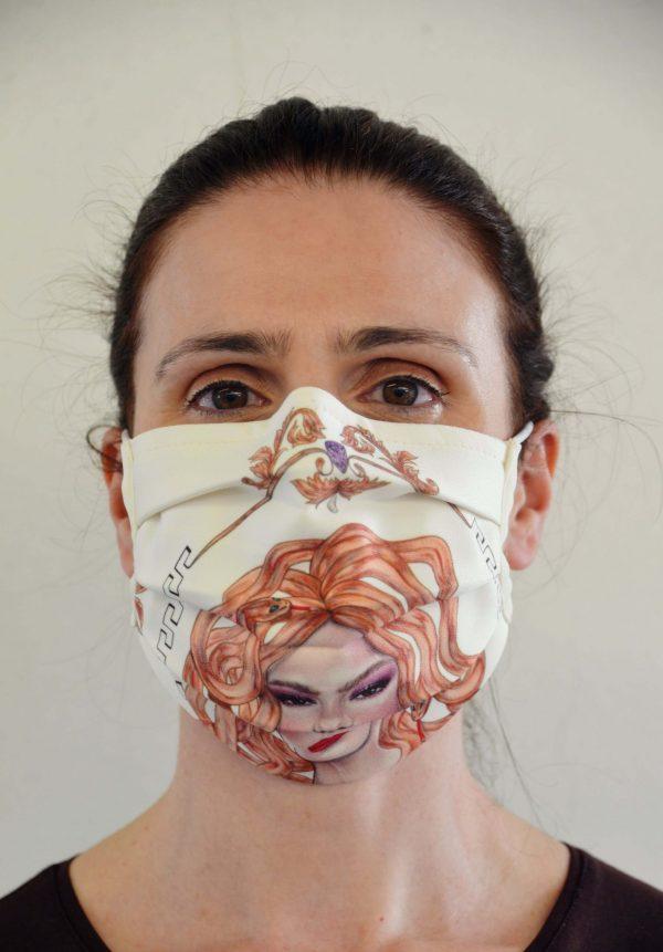 Máscara Shakira ilustrada por Jéssica João