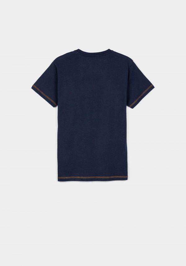 T-shirt azul c/ letras para boy da Tiffosi