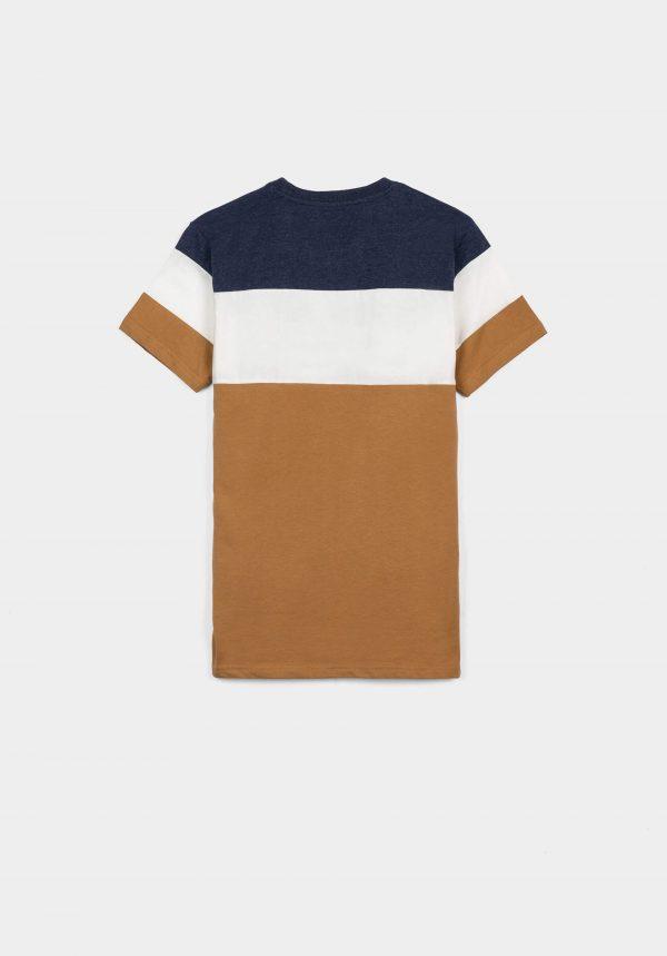 T-shirt tricolor c/ letras bordadas para menino da Tiffosi