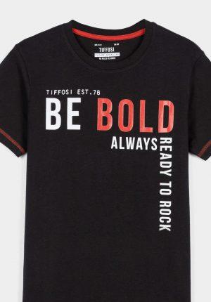 T-shirt preta c/ letras para menino da Tiffosi