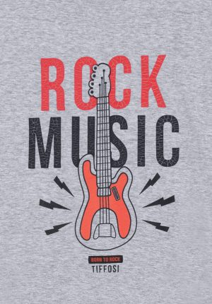 T-shirt cinza c/ estampa rock para menino da Tiffosi