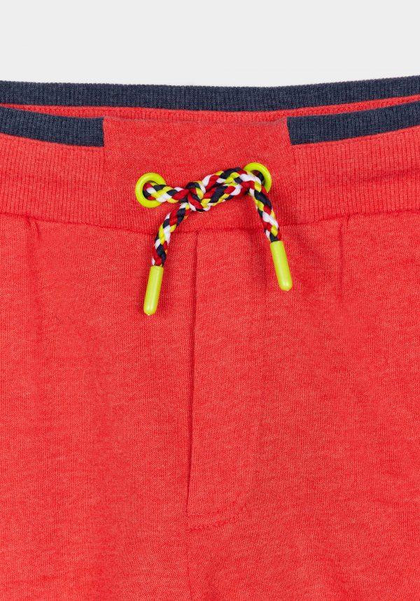 Calções vermelhos em malha para menino da Tiffosi