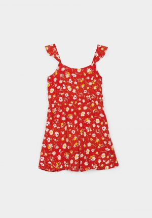 Jumpsuit calção floral para menina da Tiffosi
