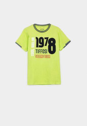 T-shirt verde lima para menino da Tiffosi