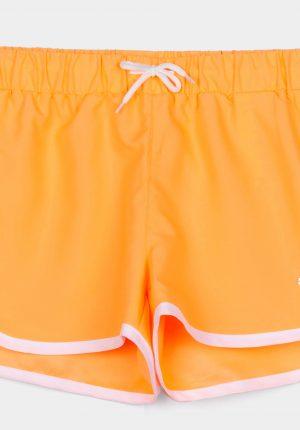 Calções laranja para menina da Tiffosi