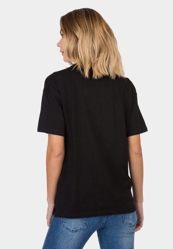 T-shirt preta c/ estampa vermelha para mulher da Tiffosi