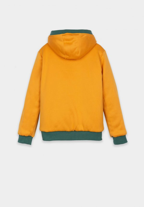 Casaco reversível verde/amarelo para menino da Tiffosi
