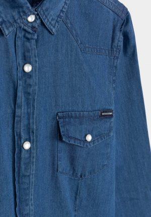 Camisa de ganga média para menina da Tiffosi