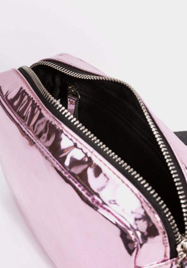 Mala de tiracolo rosa metal para menina da Tiffosi