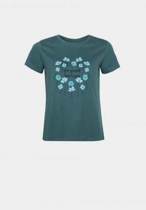 T-shirt verde c/ relevo para mulher da Tiffosi
