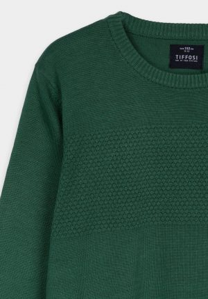 Camisola verde c/ decote redondo para menino da Tiffosi