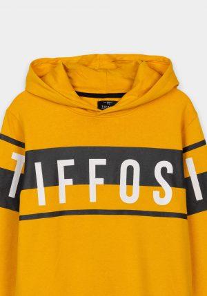 Hoodie amarelo c/ marca para boy da Tiffosi