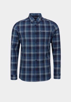 Camisa xadrez azul regular fit para homem da Tiffosi