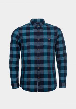 Camisola azul c/ quadrados para homem da Tiffosi