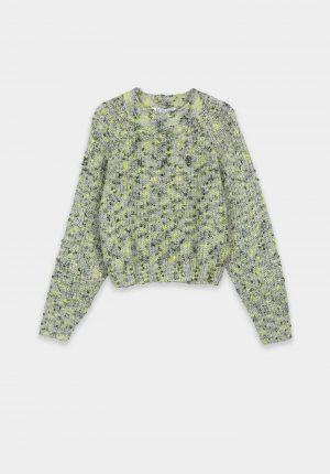 Camisola de malha verde mesculado para menina da Tiffosi