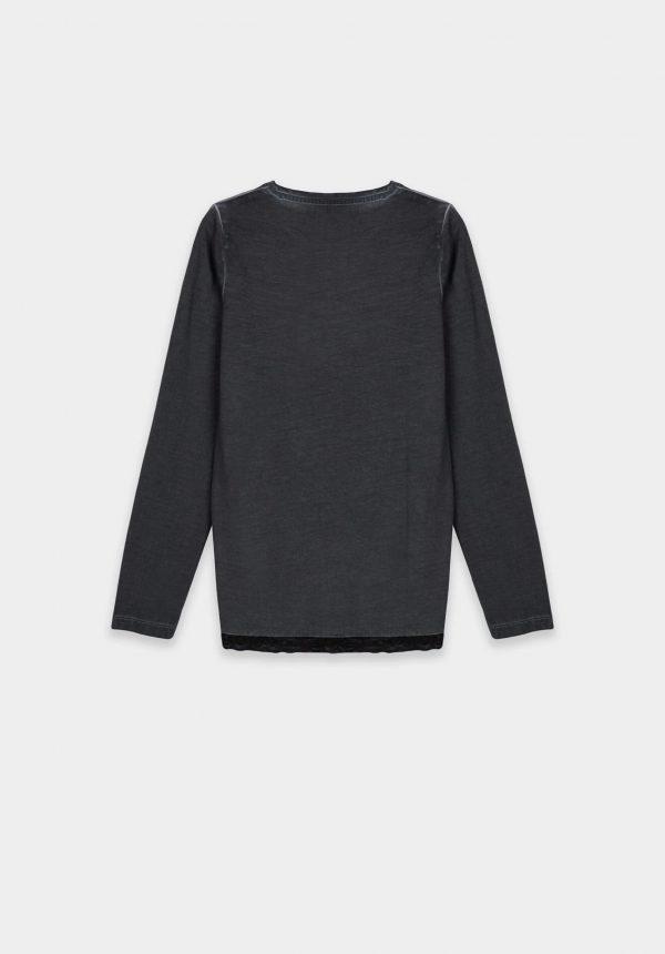 T-shirt cinza c/ estampa para girl da Tiffosi