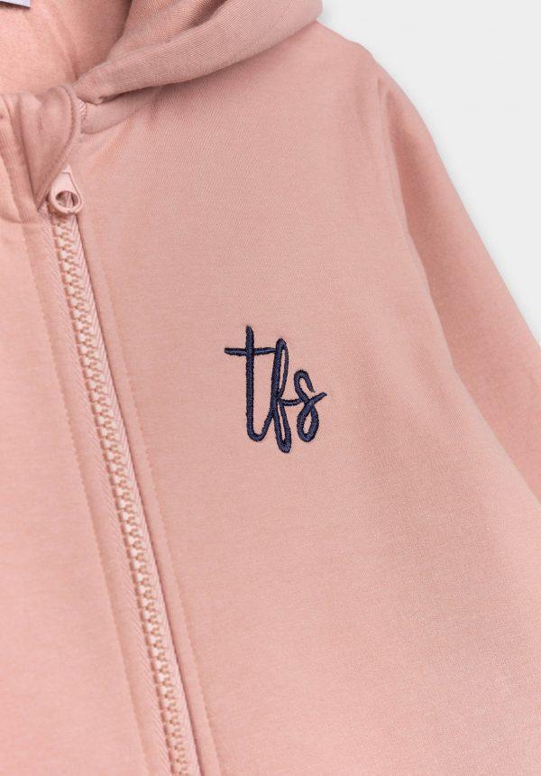 Casaco de malha rosa c/ capuz para girl da Tiffosi